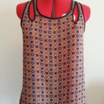 Valley Girl Singlet Top in Orange & Blue Style No. 241833 $14.95 -30% off = $10.47