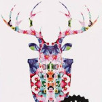 Typo Cardboard Stag Head Reflected Floral $29.95 -30% off = $20.97