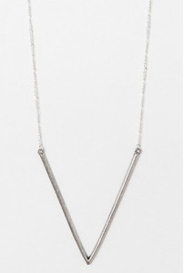 Urban Outfitters Freestyle Arrow Necklace (in SIlver)