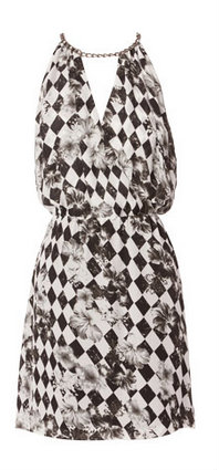 Wayne by Wayne Cooper Harlequin Chain Detail Dress. Available here.