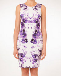 Jayson Brunsdon Black Label Transparent Floral Body Con Dress. Available here.