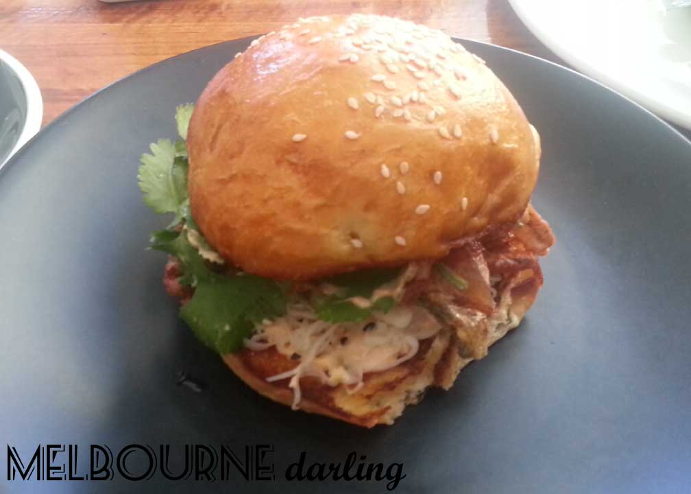 Soft Shell Crab Burger at Hammer and Tong 412