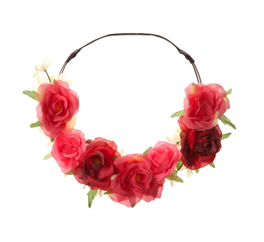 Lovisa Spring Racing Rose Flower Crown Halo Headband
