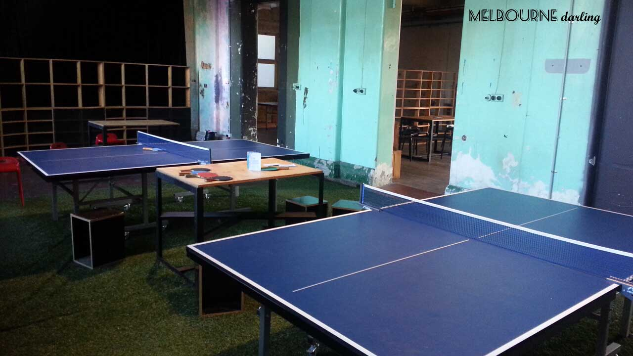 Ping Pong tables at The Shadow Electric Openair CInema
