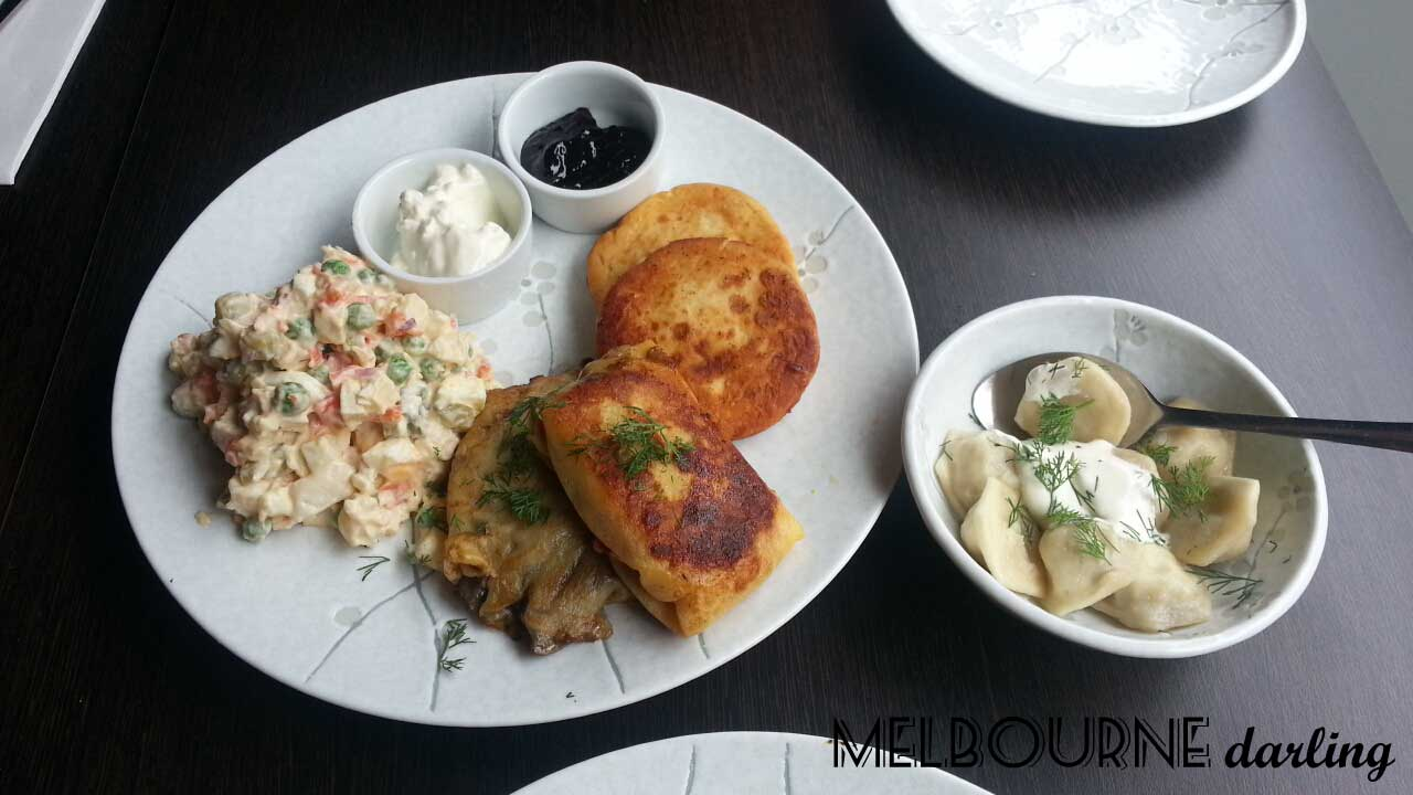 Russian Sampler Plate at Third Wave Cafe Prahran