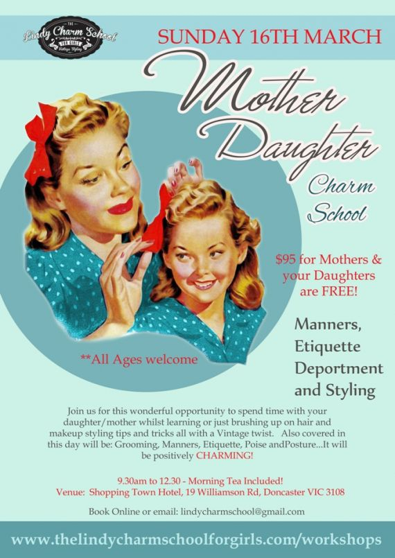 Mother and Daughter Charm School