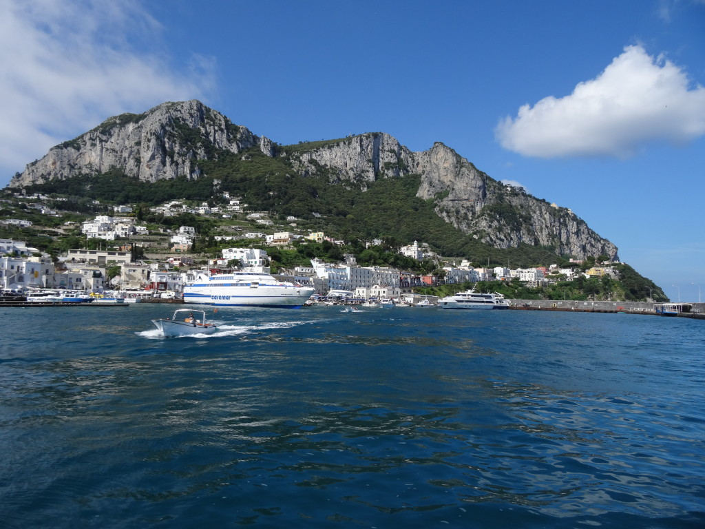 Arriving at Capri by ferry
