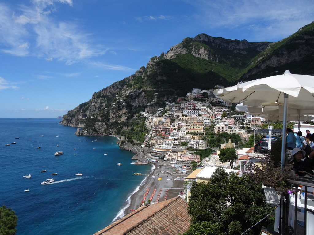 Terrace views of Positano