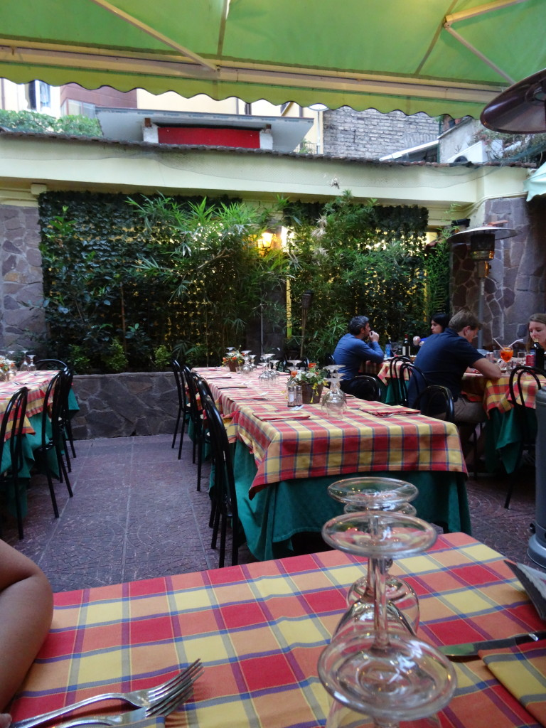 Courtyard dining at Ristorante Al Boschetto