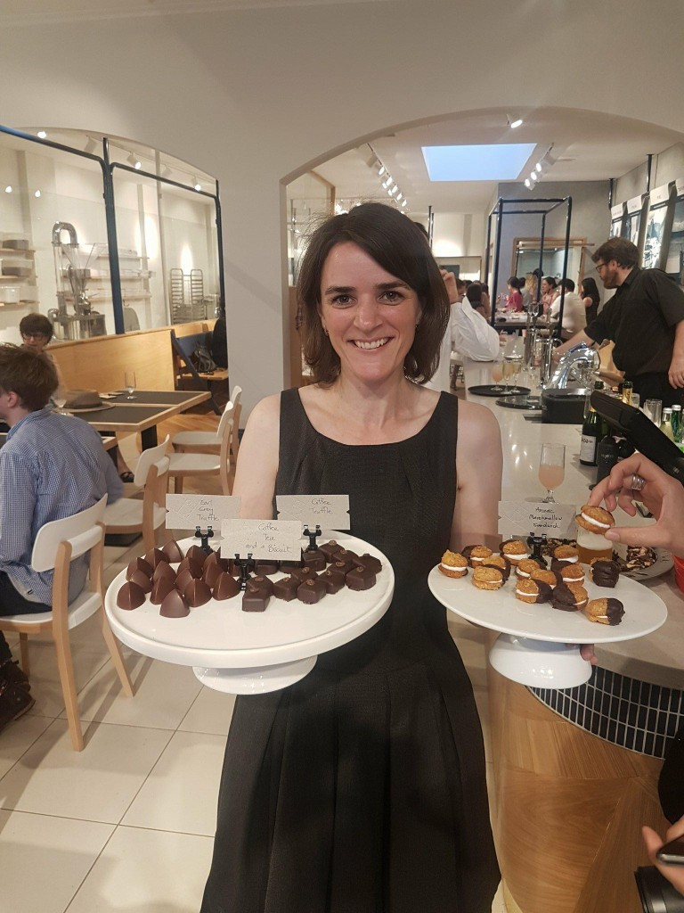 Debbie Makin – Ratio business owner handing out a selection of her delectable chocolate treats!